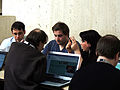 Group discussion at GLAM-Wiki 2013.JPG