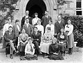 Groups of Seventeen outside Presentation Convent building Waterford, Ireland, 1920s (5823895316).jpg