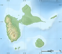 Map showing the location of Guadeloupe National Park