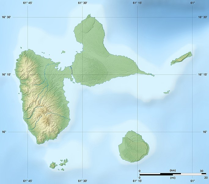 File Guadeloupe Department Relief Location Map Jpg Wikimedia Commons