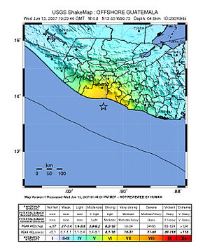 2007 Guatemala earthquake - Image: Guatemala Quake June 13.2007