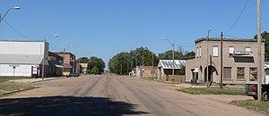 Guide Rock, Nebraska - Downtown Guide Rock: looking north along University Street