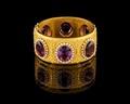 Guldarmband från juvelerarfirma Gustaf Möllenborg, 1875 - Hallwylska museet - 109574.tif