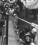 Gun crews aboard USS Phoenix (CL-46) during the Mindoro invasion, in December 1944 (535555).jpg