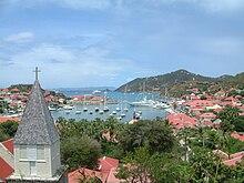 Il porto di Gustavia, il capoluogo dell'isola