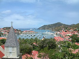 De haven van Gustavia