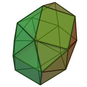 Gyroelongated triangular bicupola - Image: Gyroelongated triangular bicupola