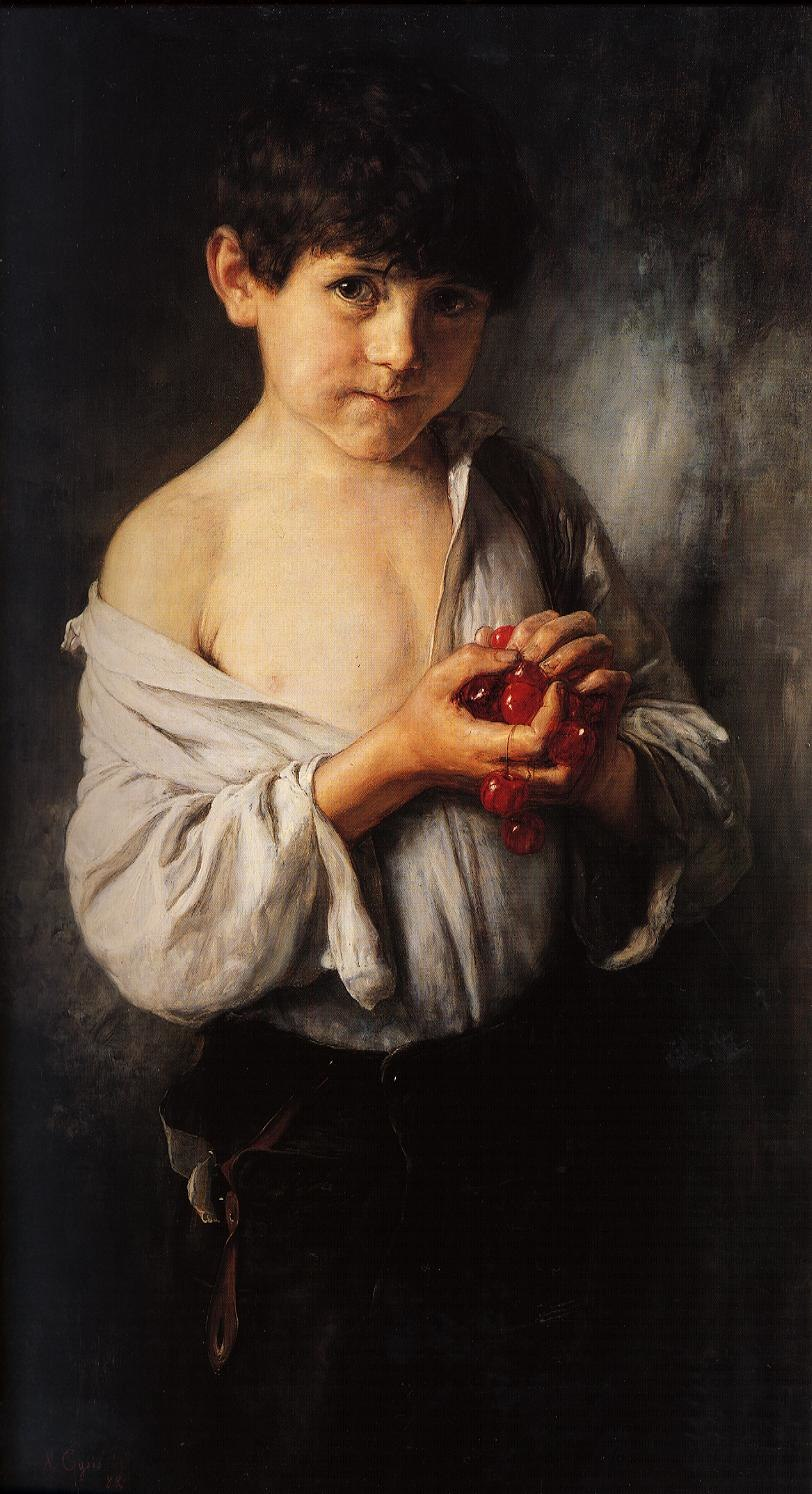 Gysis Nikolaos Boy with cherries