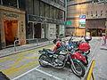 HK Central 中環 安蘭街 On Lan Street Dec-2013 Sunday morning Motorbike carpark space view On Lan Centre.JPG