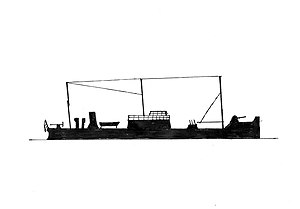 HMS Kruger - HMS Kruger (ex russian President Kruger), 1918-1919 Flagship of the British Caspian Flotilla