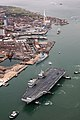 HMS Queen Elizabeth sails into her home port of Portsmouth for the first time MOD 45162971.jpg