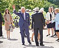 HRH Prince of Wales meets Secretary of State Karen Bradley at the Royal Garden Party held at Castle Coole earlier today. (47957729448).jpg