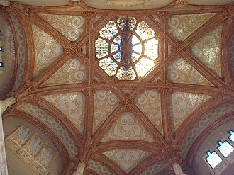 Star-painted ceiling - A starry vault, at Sant Pau – Dos de Maig, in the Barcelona Metro
