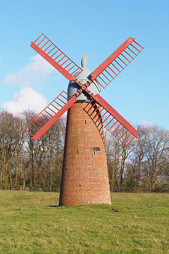 Haigh, Greater Manchester - Haigh Windmill after restoration in 2011