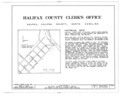 Halifax County Clerk's Office, King and Market Streets, Halifax, Halifax County, NC HABS NC,42-HAL,2- (sheet 1 of 5).png