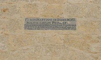 Ħamrija Tower - Plaque on the Ħamrija Tower