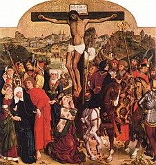 Kreuzigung Christi; (Rückseite: Hl. Anna Selbdritt)