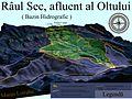 Harta 3D pentru Bazinul hidrografic al Raului Sec, afluent al Oltului.jpg