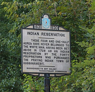 Tribal sovereignty in the United States - Hassanamisco Nipmuc Indian Reservation Sign