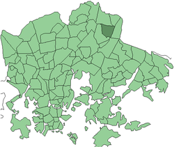Location in Helsinki