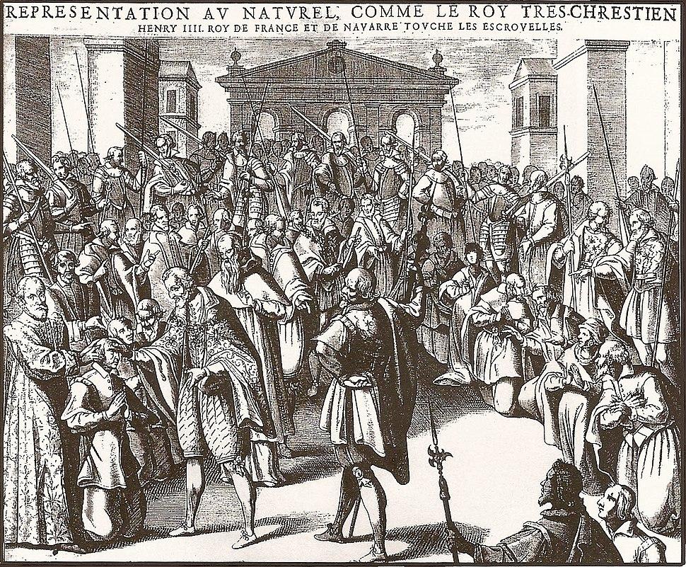 Henri IV touche les escrouelles