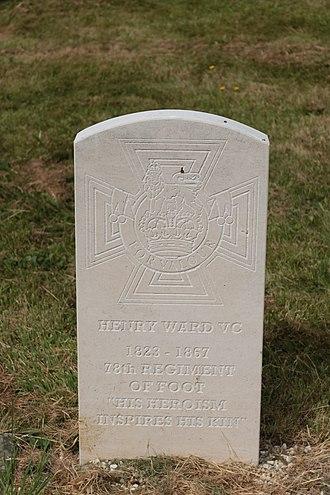 Henry Ward (VC) - Headstone of Henry Ward VC, Great Malvern Cemetery, Great Malvern, United Kingdom