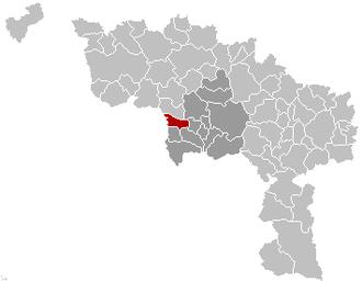 Hensies - Image: Hensies Location