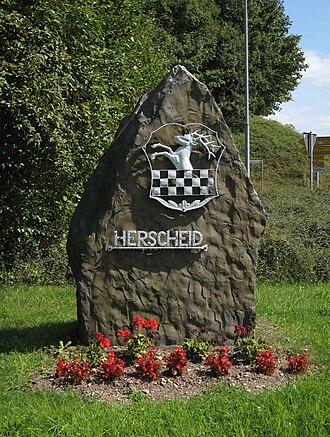 Herscheid - Image: Herscheid Ortseingang 1 Asio