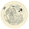 Hetaira (courtesan) with lyre before an old man; after tondo from an Attic red-figure kylix (8269415943).jpg