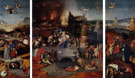 Hieronymus Bosch - Triptych of Temptation of St Anthony - WGA2585