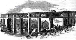 Losh, Wilson and Bell - Losh, Wilson and Bell constructed the approaches for the Newcastle-Gateshead High Level Bridge, c. 1852