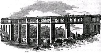 Losh, Wilson and Bell - Losh, Wilson and Bell constructed the approaches for the Newcastle-Gateshead High Level Bridge, c. 1852
