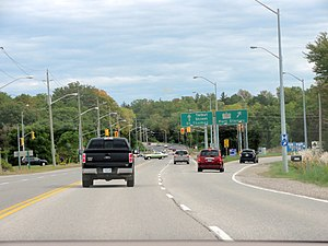 St. Thomas, Ontario - The Highway 4 / Talbot Street junction.