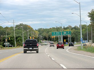 Ontario Highway 4 - The Highway 4 / Talbot Street junction in St. Thomas.