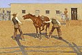 His First Leson, 1903, by Frederic S. Remington.jpg