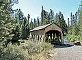 Hixon Crossing Covered Bridge Near the Finish Line - 2010 Haulin' Aspen Trail Marathon and 12 Marathon.jpg