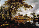 Hobbema, Meindert - Wooded landscape with a Water-mill - Google Art Project.jpg