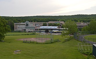 Holyoke Community College - HCC's main campus, sitting at the edge of the municipal watershed for the Holyoke Water Works, the area to the west of campus is entirely forested