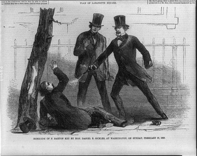 Homicide of P. Barton Key by Hon. Daniel E. Sickles, at Washington, on Sunday, Feb. 27, 1859 LCCN2004677324.jpg