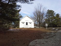 Hopkins Hollow Church in Hopkins Hollow village in Coventry and West Greenwich Rhode Island RI USA.jpg