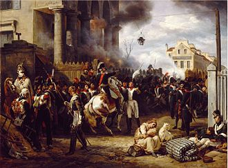 War of the Sixth Coalition - Episode of the battle of Paris, by Horace Vernet