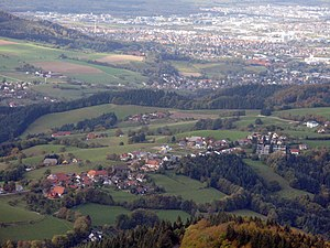 Southern Black Forest - View from Schauinsland of Horben and Freiburg (behind)