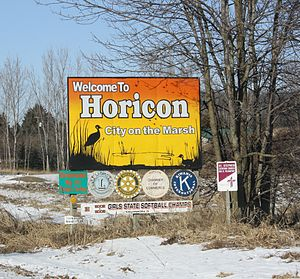Horicon, Wisconsin - City welcome sign