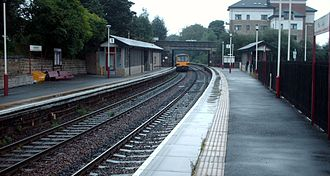 Horsforth - Horsforth railway station looking south towards Leeds