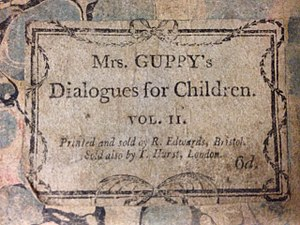 Sarah Guppy - Cover of Dialogues for Children, 1800