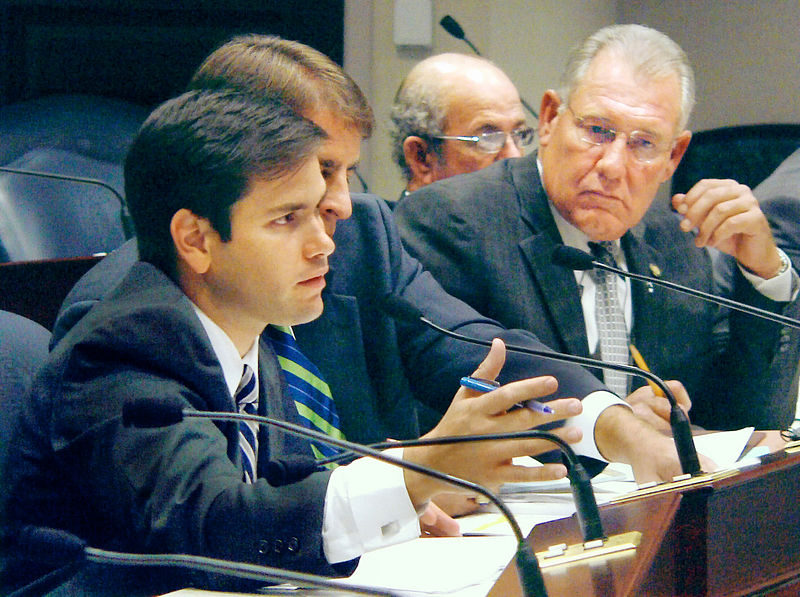 House Select Committee on Private Property Rights Chairman Rep. Marco Rubio, R-Miami, left, guides discussion 2005-10-18.jpg