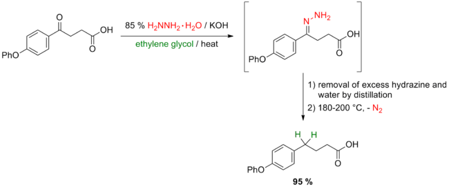 Scheme 5. Huang Minlon modification