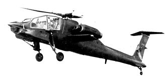 Boeing AH-64 Apache - An early Hughes YAH-64 prototype with T-tail