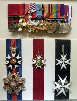 Hughie Edwards - Edwards' medal group at the Australian War Memorial, Canberra.