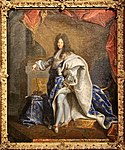 Hyacinthe Rigaud, Modello for the Portrait of Louis XIV in Royal Ceremonial Robes 04.jpg